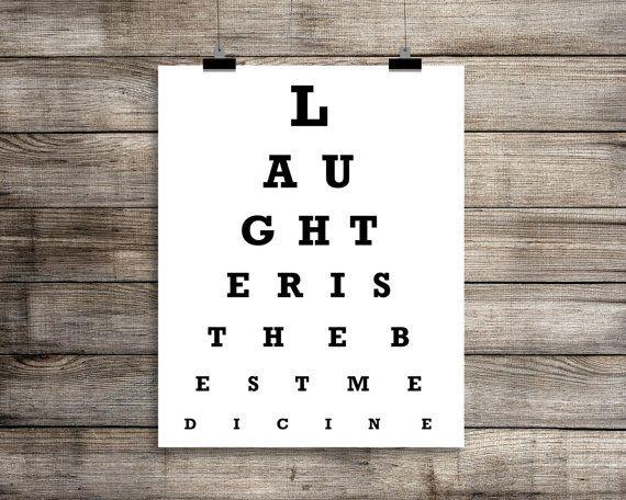Inspirerende oog grafiek afdrukken  lachen Is door BackPorchPrints