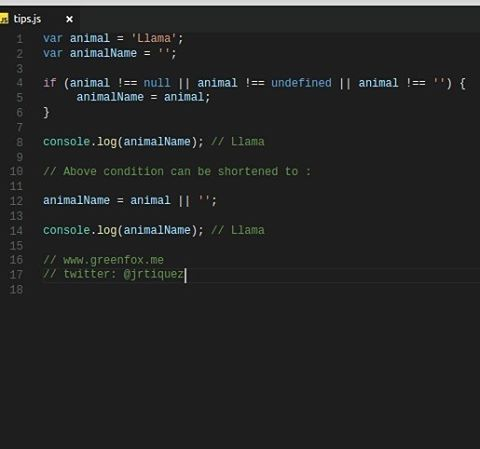 Null Undefined Empty Checks Shorthand.  www.greenfox.me  #jstips #javascript #tips #code #coding #programming #program #vscode #webdev #webdevelopment #webdeveloper #nodejs #angular #jquery #angularjs #react #js