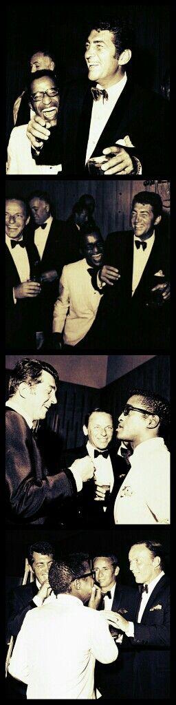 Dean Martin, Frank Sinatra and Sammy Davis Jr