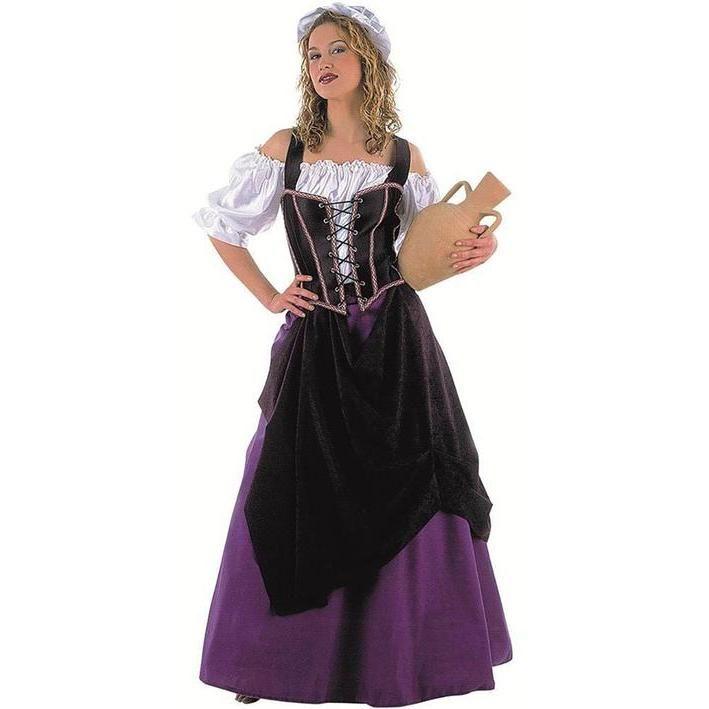 Disfraz de mesonera medieval para mujer