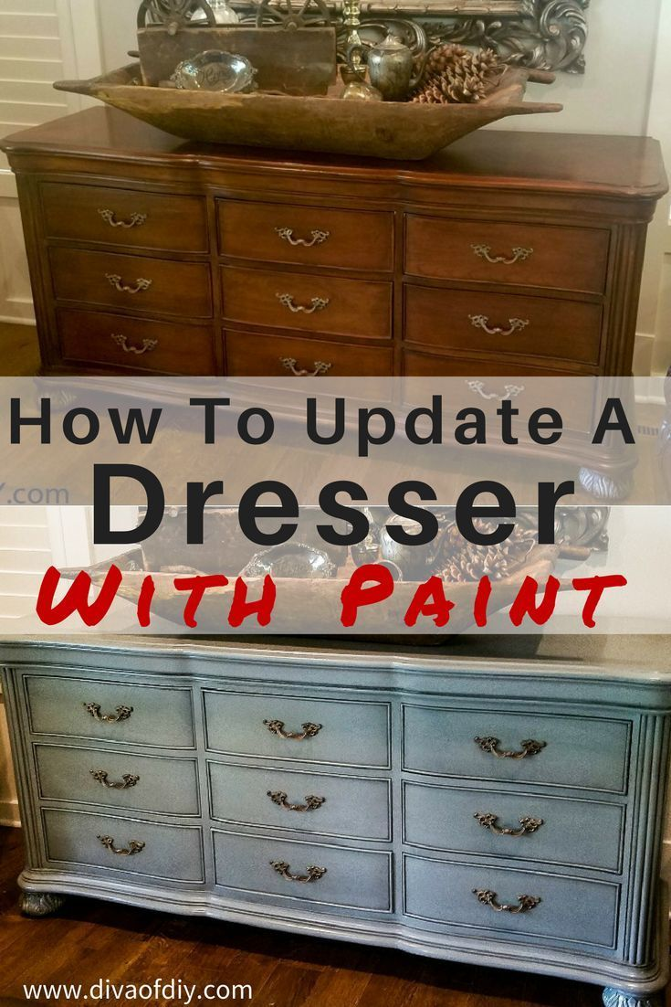 Furniture Makeover: How To Update A Dresser With Paint