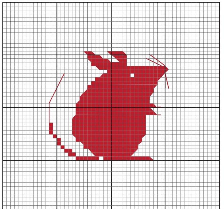 http://prunelle-et-bigoudi.fr/category/et-tout-le-reste Petite souris / Cross Stitching Mouse / Kreuzstich Maus