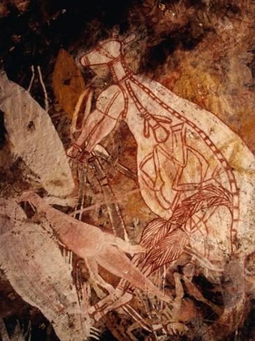 Richard L'Anson - ABORIGINAL ROCK ART PAINTING OF A WHITE KANGAROO AT KARBENADJARLNGLAWE, KUDJEKBINJ, AUSTRALIA