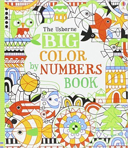 10 amazon prime big color by numbers book fiona watt 9780794516062 amazon - Color By Number Books