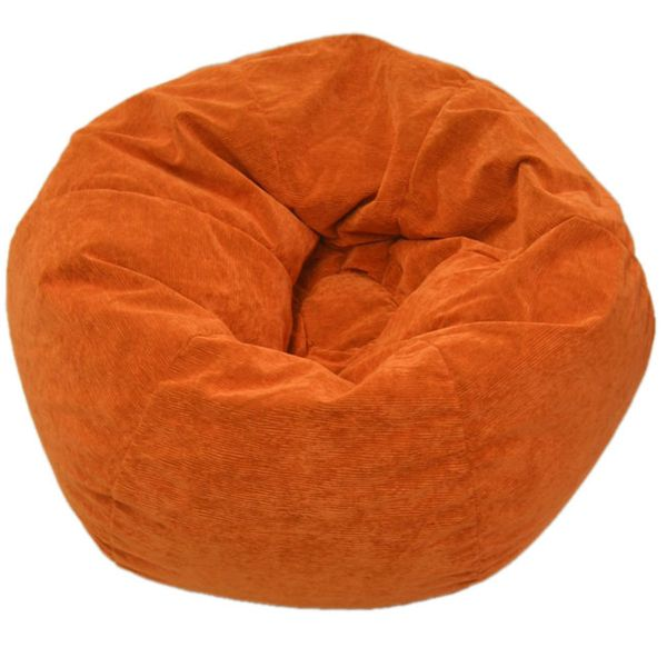 Gold Medal Sueded Corduroy Jumbo Orange Bean Bag Chair | Overstock.com Shopping - The Best Deals on Bean & Lounge Bags
