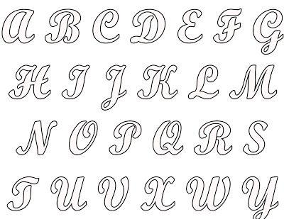 molde de letras cursiva - Pesquisa Google                                                                                                                             More