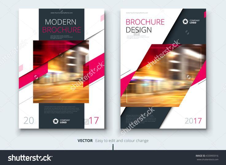 Pink Brochure Design, Modern Brochure Template, Brochures, Brochure Layout, Brochure Cover, Brochure Templates, Brochure Layout Design, Brochure Design Template, Brochure Mockup, Brochure Page Ilustración vectorial en stock 433995916 : Shutterstock