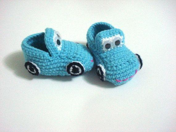 bebé zapatos de niño coches de botitas de bebé por AnatoliaDreams