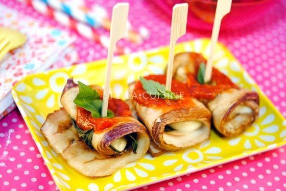 Recette de roulés d'aubergines à la mozzarella et au basilic | StellA Cuisine !!! Recettes faciles, Recettes pas chères, Recettes rapides