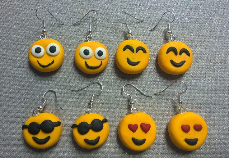 Handmade Polymer Clay Emoji earrings