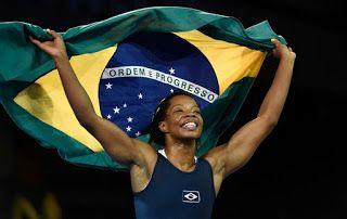 Blog Esportivo do Suíço:  Após sair perdendo por 5 a 0, Joice Silva vira e conquista ouro na luta olímpica