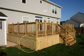 10 images about mobile home skirting on pinterest for Diy decks for mobile homes