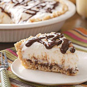 Fudge Sundae Pie- dad's favorite & one of mine too! w/o the peanuts. & i use ice cream.