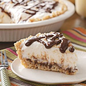 Fudge Sundae Pie Recipe from Taste of Home -- shared by Margaret Hanson-Maddox of Montpelier, Indiana
