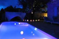 Colour changing swimming pool, Nemus villa www.steliata.gr
