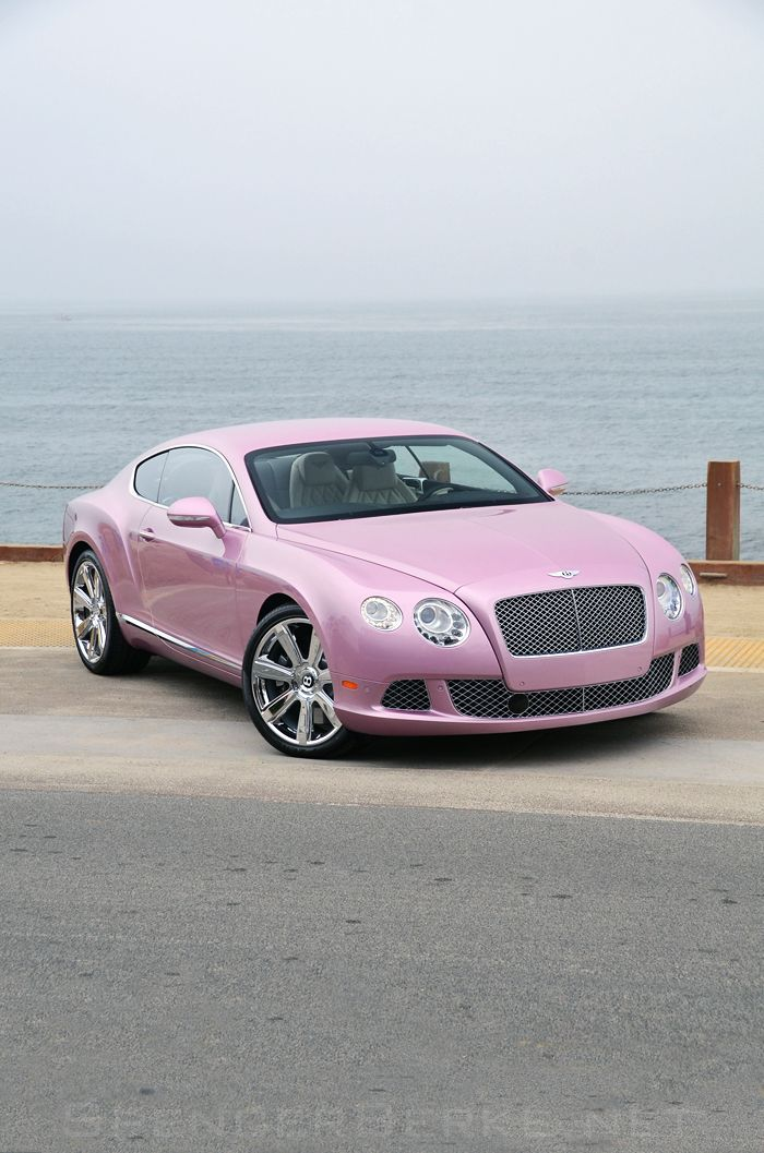 Pink Car Bentley GT #car #automotive #transportation #wheels #pink 2012