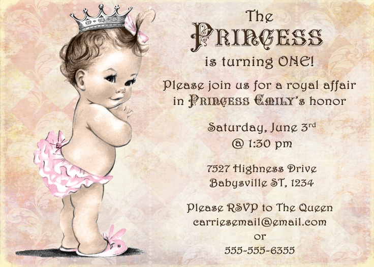 97 best images about Payton Breck Newton – Baby Girl First Birthday Party Invitations