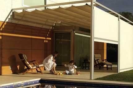 Decoraci n de terrazas porches p rgolas y toldos - Ideas para pergolas ...