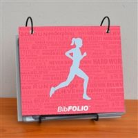 Finally a place to keep all those race bibs! Our BibFOLIO is the perfect solution for collecting racing bibs. As you add racing bibs and your collection grows it becomes a great memory and conversation piece of races run.
