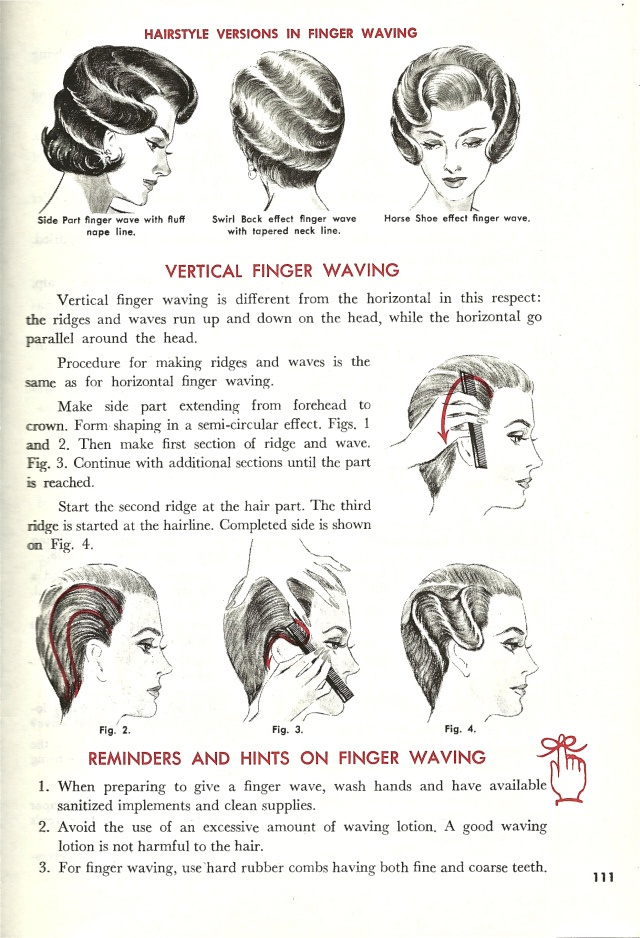 Vintage Finger Wave Instructions Tutorial. This seems neat, I wonder if there is an easier way by now.