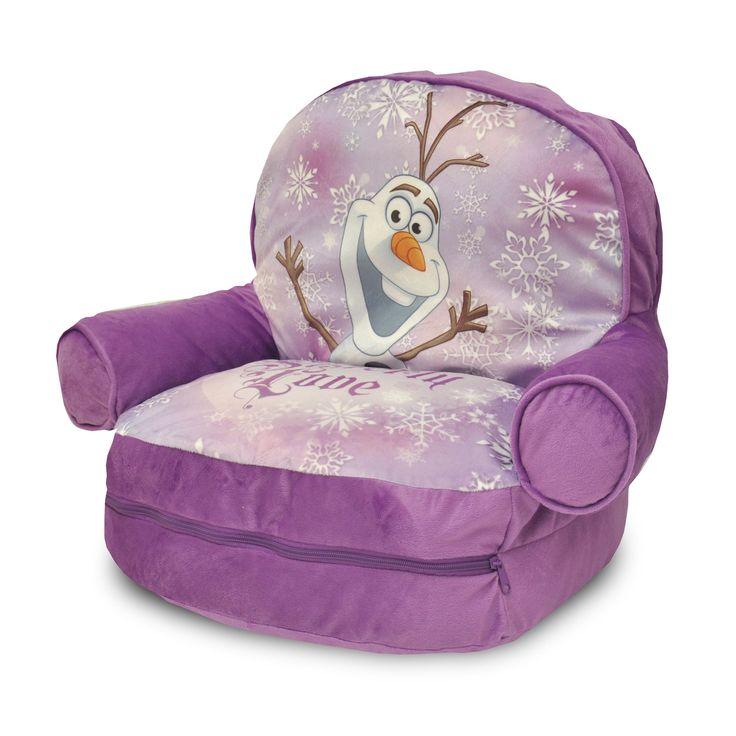Disney Frozen Kids' Purple Bean Bag Arm Chair with Bonus Sleeping Bag (Frozen), Size Small
