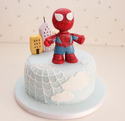 Atelier Sucrème: Pastel spiderman infantil