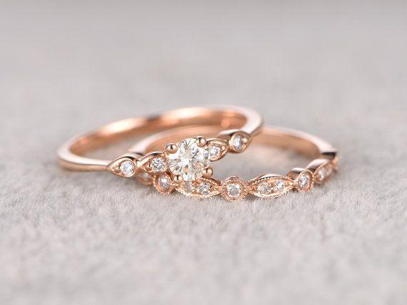 2ST Moissanite Bridal festgelegt Verlobungsring Ro…