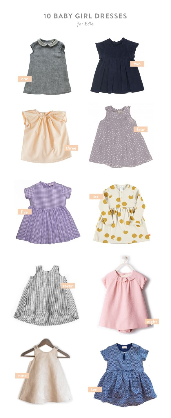 10 favorite baby girl dresses for Edie
