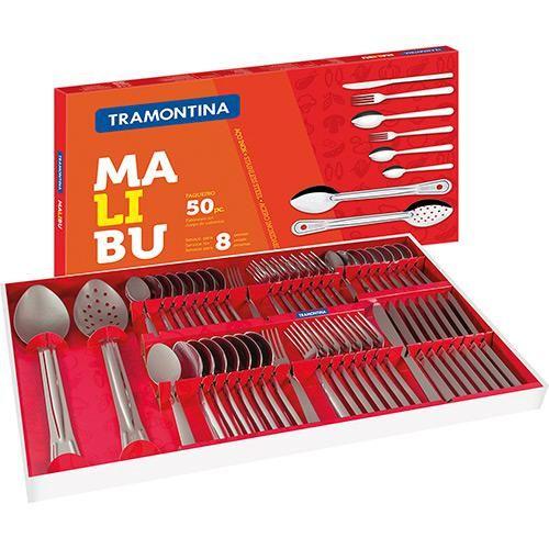Faqueiro Inox 50 Peças Malibú - Tramontina - Shoptime.com
