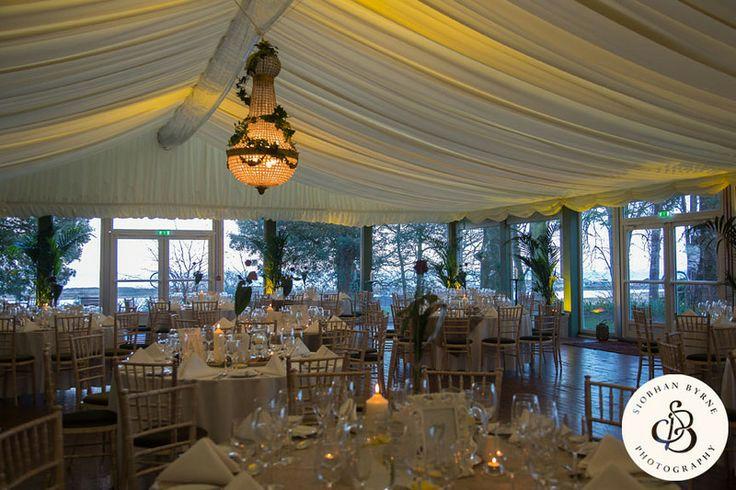 Pavilion wedding set up