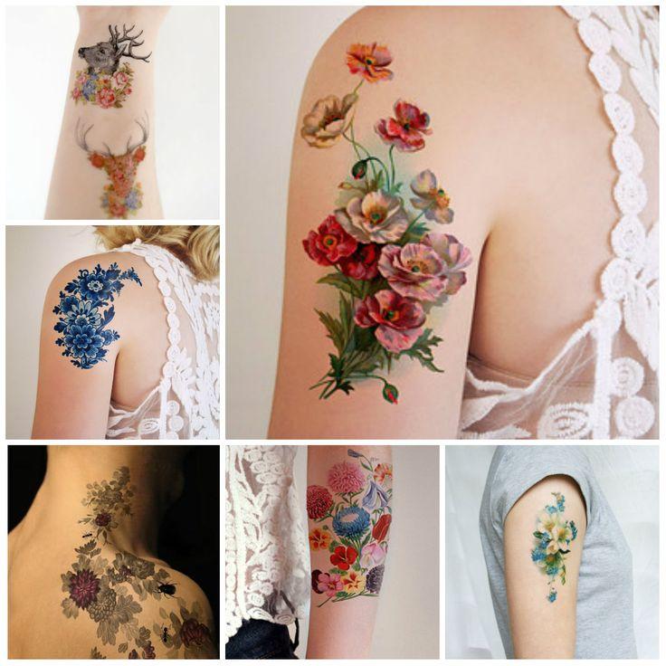 vintage flower tattoos 2016