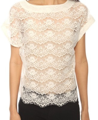 Chantilly Lace Cropped Top  $15.80: Cream Lace, Style, Chantilly Lace, Cropped Tops, Lace Overlays