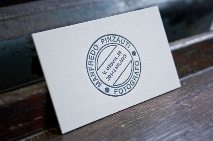 Business card / by Tipografia Pezzini #letterpress