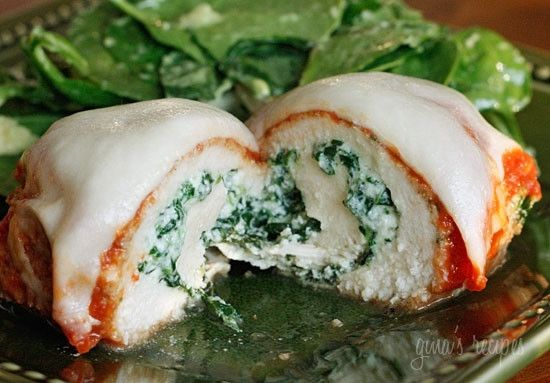 Chicken Rollatini With Spinach Alla Parmigiana | Skinnytaste