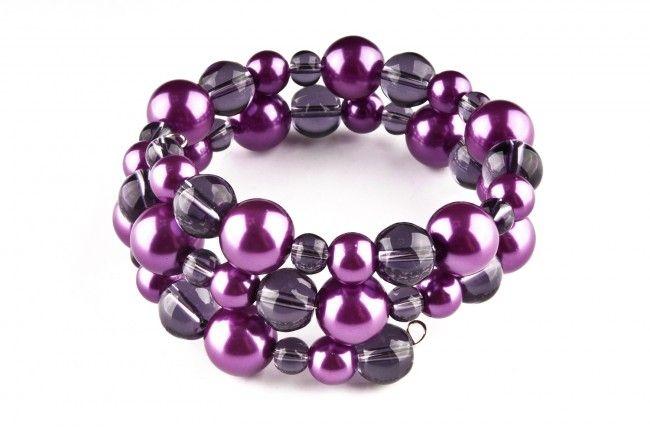 Bransoletka - szkło i perły szklane - multi-row glass pearls memory wire bracelet http://corallia.pl/bransoletki/bransoletka-szklo-i-perly-szklane.html#.VNoIzS7Hg2g