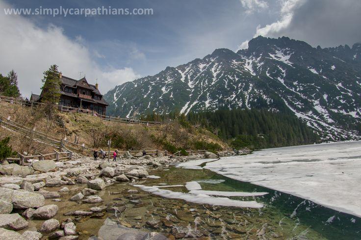 Famous Morskie Oko lake in spring, Tatra Mountains.