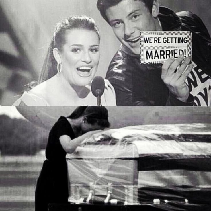I cannot believe this but Cory Montieth (Finn from Glee) died yesterday. Lea Michele and Cory were to be married in 2 weeks. Lea was going to get to wear that pretty white gown we all dream of and she'd get to kiss Cory. But now she has to wear a black dress and kiss his tombstone...WE WILL MISS YOU CORY. YOU TOOK THAT TRAIN GOIN ANYWHERE