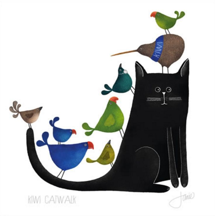 Catwalk - kiwi style! Illustration by Red Ink Design. Available from www.imagevault.co.nz