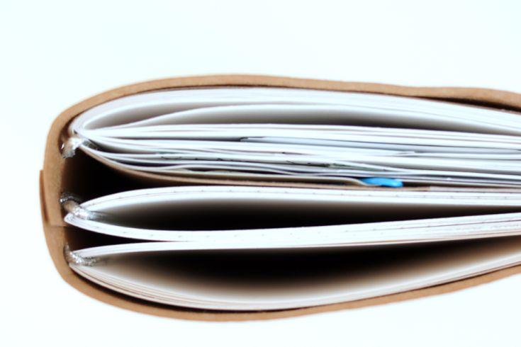 DIY - Traveler's Notebook selbergemacht, mit Inlays und Hülle