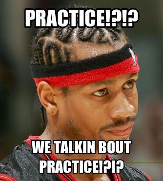 Image result for allen iverson practice meme