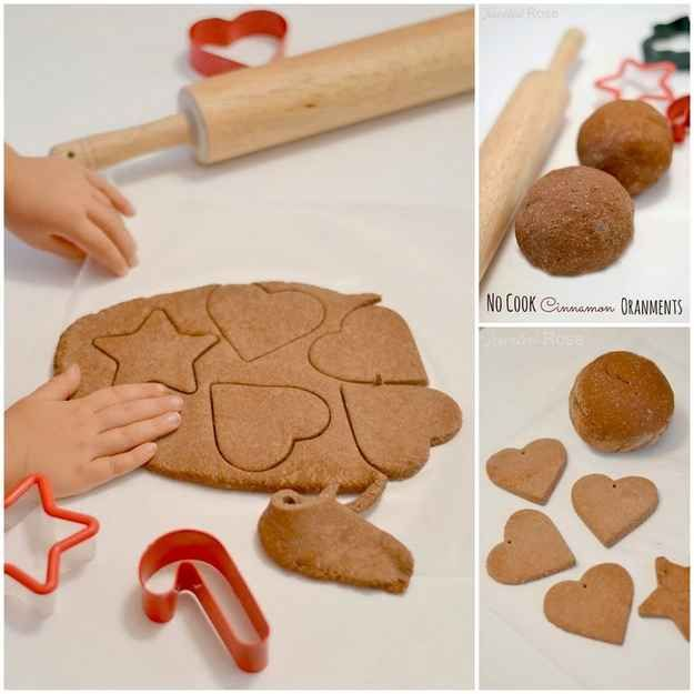 No Cook Cinnamon-Scented Ornaments | 36 Adorable DIY Ornaments You Can Make With The Kids