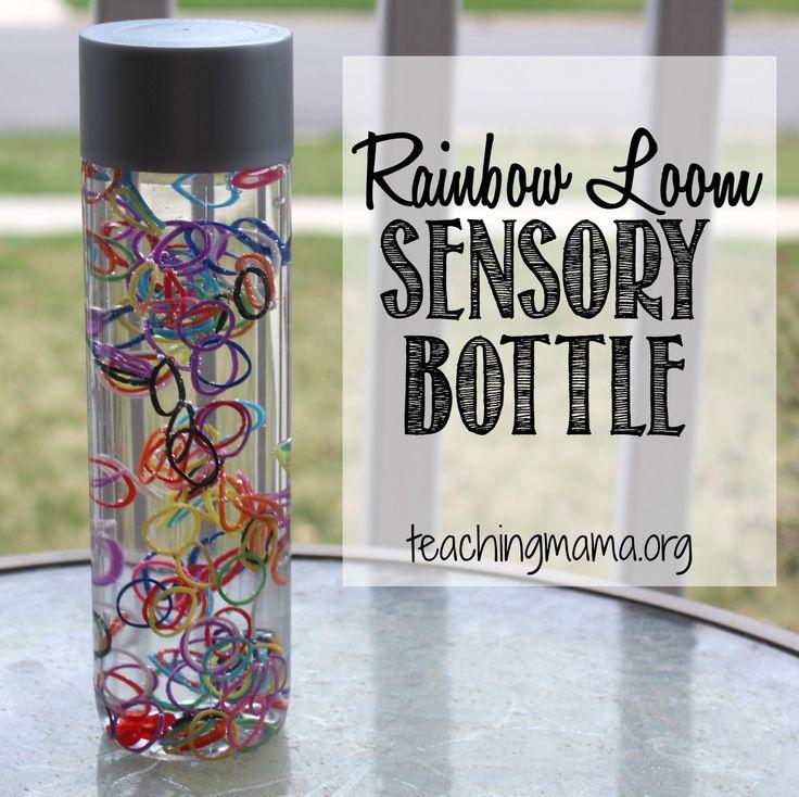 Rainbow Loom Sensory Bottle -Teachingmama.org