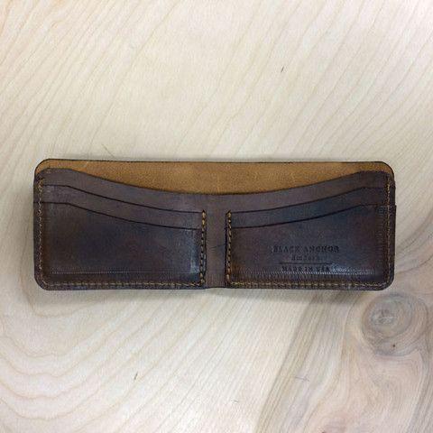 Bifold Wallet   Black Anchor Workshop