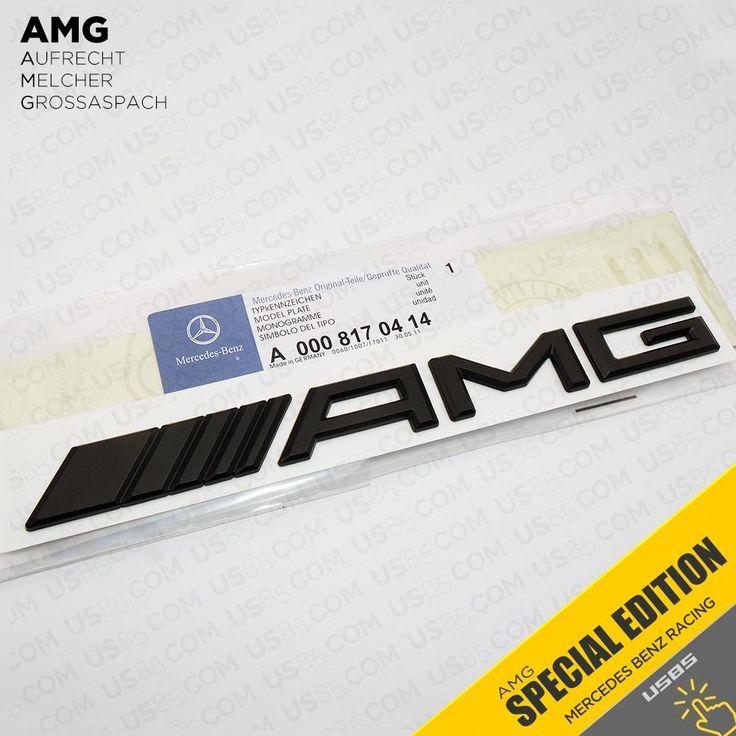 Mercedes-Benz AMG Emblem 3D Metal Matte Black Trunk Logo Badge Decoration Gift