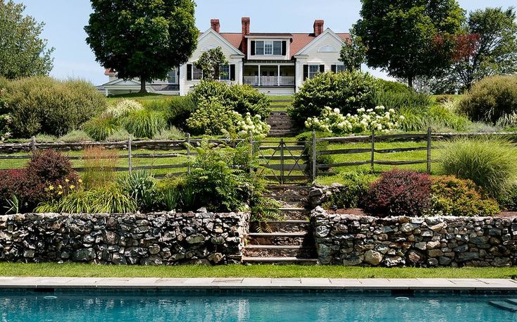 Split Rail Fence Landscape Rustic with Twig Traditional Outdoor Pots and Planters