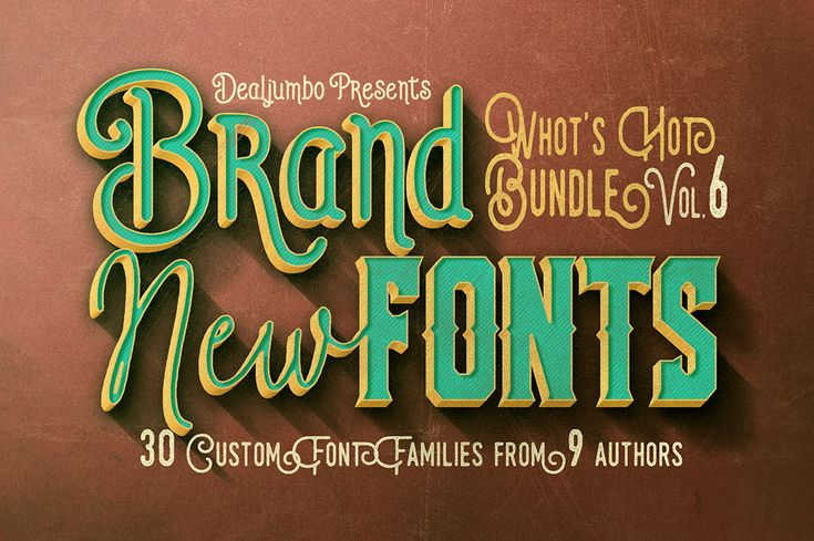 What's Hot Bundle vol.6 – Brand New Fonts
