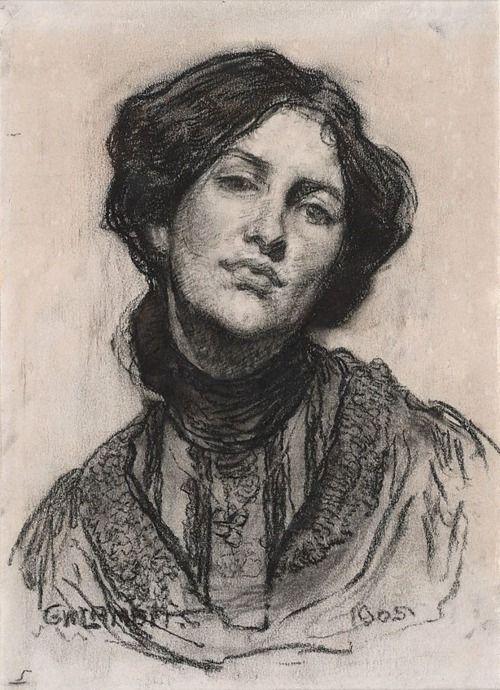 Portrait of Thea Proctor (1905)    George W Lambert  (Russia, Australia 1873–1930) [x]