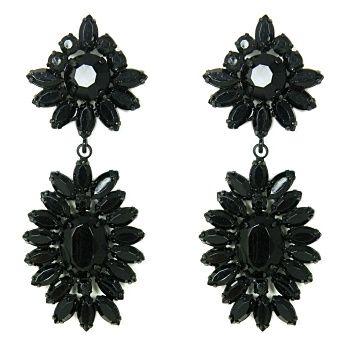 Talullah Tu - Jet Starburst Jewel Statement Earrings
