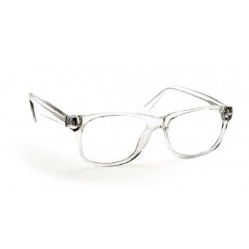 geek eyeglasses black and blue frame