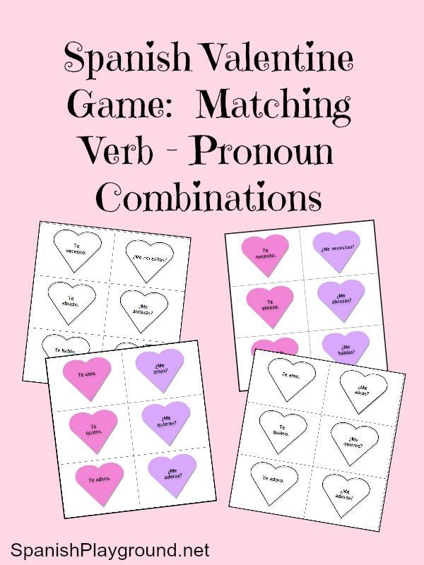 Spanish Game For Valentine S Day Spanish Learning Pinterest